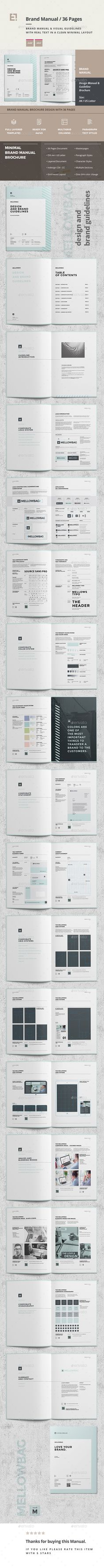 Brand #Manual - #Corporate #Brochures Download here: https://graphicriver.net/item/brand-manual/19735610?ref=alena994