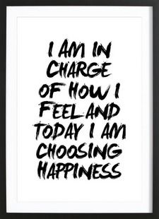 I Am In Charge of How I Feel - THE MOTIVATED TYPE - Gerahmtes Poster