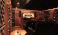 Home Theatre utilizing Artnovion Acoustic panels
