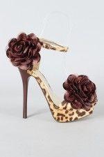 Liliana Sarafina-28 Leopard Floral Open Toe Sandal- OMG too cute