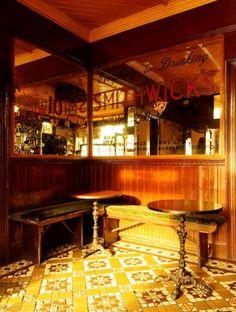 Irish Pub Style-Crotty's, Kilrush, Co.Clare....how I love those floor tiles!!!