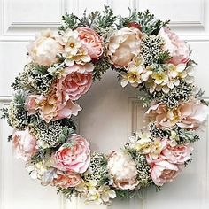by TheOtherSister Wreath Crafts, Diy Wreath, Door Wreaths, Easter Wreaths, Christmas Wreaths, Straw Wreath, Wreath Forms, Summer Wreath, Spring Wreaths