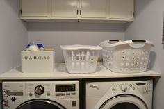 DIY laundry room folding counter - laundry room reveal - Dogs Don't Eat Pizza