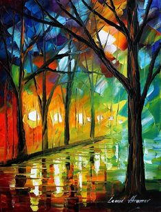 I wish I could buy them all . Here are just a couple of the amazing paintings by artist Leonid Afremov. I can't get enough of the colors...