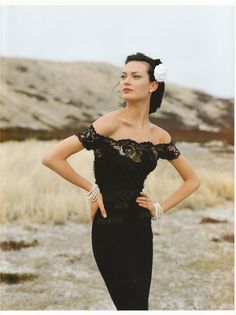 Black lace Chanel (1997) -- proof that a great little black dress is timeless.