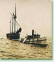 Captain John Griffin was the sole survivor after his ship, the three-mast schooner St. Peter foundered in a Lake Ontario storm on October 27, 1898. Griffin's wife and the ship's crew of eight others were lost with the schooner.