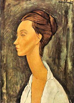 Amedeo Modigliani Portrait of Lunia Czechowska Italian painter and sculptor, Primarily a figurative artist1175394_518458554902726_1274662236_n.jpg (428×600)