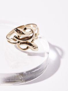 10k Love Knot Serpent Ring