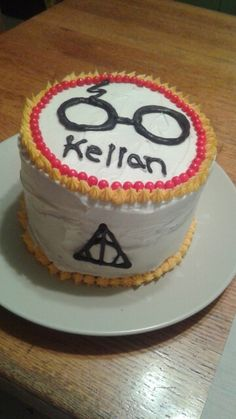 Harry Potter Birthday Cake Cake I made for daughter in law for