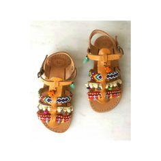 Chicas Gladiador sandals| Los niños boho sandals| Hija sandals| Sandals| de pompón Flops| tirón étnico Sandals| de cuero griego Sandals| hecho a mano Zapato de bebé