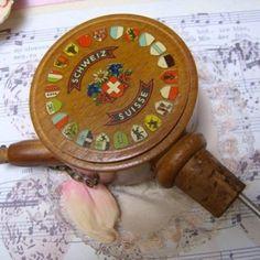 Unusual Vintage Music Box Liquor Dispenser