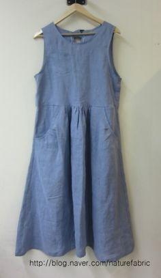 A cool linen dress :: Naver blog