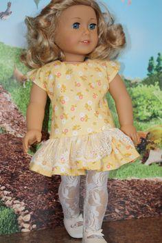 American  girl doll clothes 18 inch doll by GrandmasDollCloset, $21.95 (JBS pattern Jennifer & Kate dress)