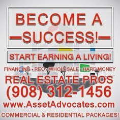 You need a NEW career and income. Do what the Top Nationwide Earners do Invest in Real Estate! We can provide the Experience and Knowledge You Need.  Make Big Profits in Real Estate. Visit http://ift.tt/1Yam6MX or Call (973) 348-5566  We Finance Hard Money Fix and Flips Commercial and are Direct Lenders for FHA VA and Conventional Purchases! CALL NOW FOR ALL REAL ESTATE FINANCING NATIONWIDE!  #RealEstate #Realtor #Realty #hardmoneyloans #hardmoney #fixandflip #buyandhold #HomesForSale…