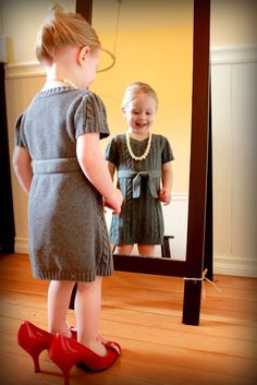 Dressing up like Mummy :)