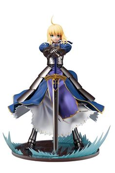 Anime Brinquedos Fate/stay night Unlimited Blade Works King of Knights Saber Scale Pre-painted Figure Collectible Toy Hunger Games, Knight Models, Arturia Pendragon, Fate Stay Night Anime, Anime Toys, Anime Figurines, Figure Model, Poses, Sculpture