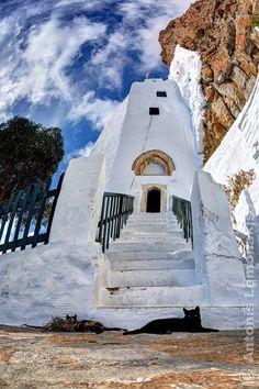 Panagia Hozoviotissa, Amorgos, Greece, heel bijzonder in 1990