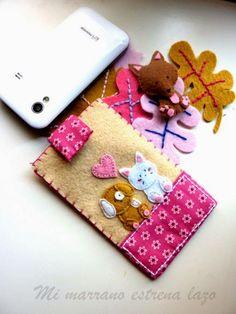 Manualidades y decoracion: Fundas para celular en fieltro