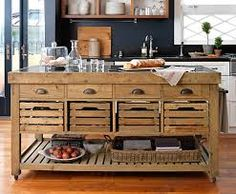 Image result for rustic wooden kitchen island