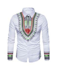 Printed Shirts Fashion Mens Shirts Long Chemise Homme Casual Camiseta Masculina Hip Hop Dress ShirtAsian Size 404 white M Dashiki Shirt, Hippie Top, Casual Shirts For Men, Men Casual, Men Shirts, Chemise Fashion, Clothes Stand, Men Clothes, African Dashiki