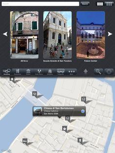 """This is Venice with Street Level"" - Enjoy a complete virtual city tour at home (app only for iPad, requires iOS 4.0 or later). Languages: English, Italian"