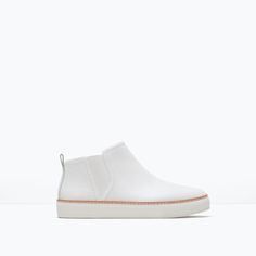 LEATHER ANKLE BOOT WITH ELASTIC PANELS-View all-Shoes-WOMAN | ZARA United States