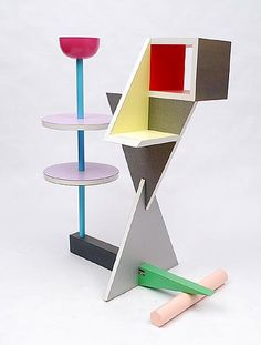 Sidetable  design Peter Shire 1987  Memphis Milan / Italy