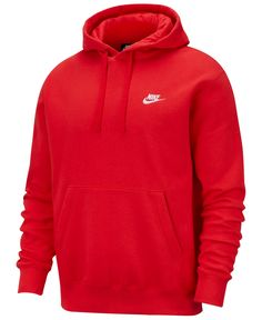 A closet staple, the Nike Sportswear Club Fleece Pullover Hoodie combines classic style with the soft comfort of fleece for an elevated, everyday look that you really can wear every day. Nike Sportswear, Nike Fleece, Hoodie Sweatshirts, Streetwear, Nike Pro Shorts, Red Nike Hoodie, Red Hoodie Men, Sweat Shirt, Fleece Pullover
