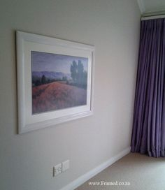 Bedroom artwork with neutral framing, room colors accentuated by the print.