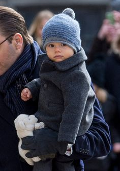 Prince Oscar of Sweden during celebrations for Crown Princess Victoria of Sweden name day at The Royal Palace on March 12, 2017 in Stockholm, Sweden.