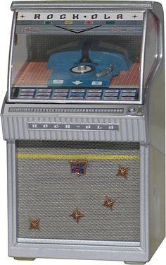 RARE JUKEBOX MINIATURE REPLICA ROCK-OLA 1458 Hi-Fi 1958 LIGHTS AND PLAYS