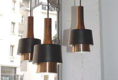 1960s Fog & Morup Rosewood Pendant Lamp