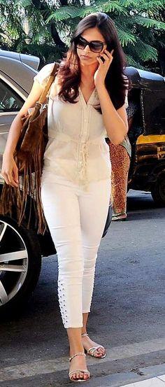 Deepika Padukone Casual At Mumbai Airport