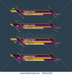 lower third banner bar screen broadcast name plate