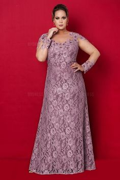 Sheath/Column Bateau Floor-length Lace Mother of the Bride Dress