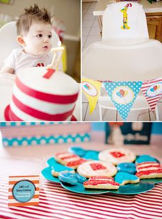 Whimsical Dr. Seuss Inspired Birthday Party // Hostess with the Mostess®
