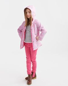 Joules Raindance Pink Waterproof Coat Joules Back to school collection