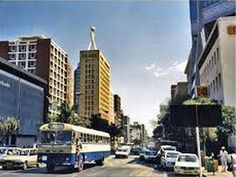 Downtown in Harare, Zimbabwe.