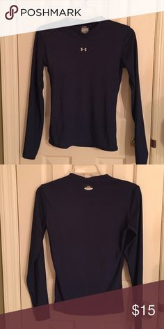Under Armour Dry Fit Long Sleeve V Neck Under Armour Dry Fit Long Sleeve V Neck. Medium but fits like a small. Wore a couple of times. Like new condition. Navy blue. Under Armour Tops Tees - Long Sleeve