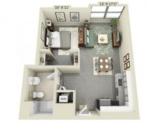 small studio apartment floor plans. would be a great layout for my