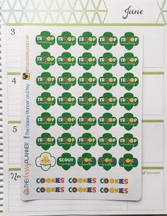 Girl Scout Stickers for your Planner calendar by TheClassyPlanner