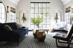 primrose house, LA  Architectural Detail  Family Room  Great Room  Living  American  Eclectic  Industrial  MidCenturyModern  Modern by sheep + stone