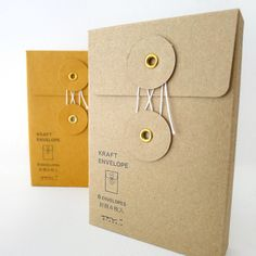 Description: Beautifully designed vertical KRAFT envelope with a string closure. This petite envelope is perfect to keep small and precious items or use it as a gift package! You can also place these