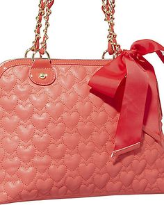 BE MY ONE AND ONLY DOME SATCHEL RED