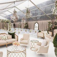 Pretty gorgeous wedding ceremony setup under a clear tent Wedding Lounge, Tent Wedding, Luxury Wedding, Wedding Events, Wedding Ceremony, Destination Wedding, Wedding Planning, Glamorous Wedding, Weddings