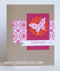You know I love coordinating products, so I was all over the new Papillon Potpourri stamp set and coordinating Elegant Butterfly Punch ! ...