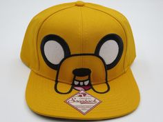 Adventure Time Jake Yellow Bioworld Collectible Snapback Hat SALE #Bioworld #BaseballCap