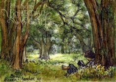 The Shire. Art by Soni Alcorn-Hender, aka Bohemian Weasel.