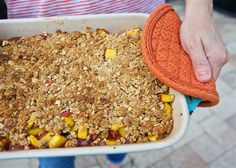 This Easy Peach Crisp recipe is perfect for a lighter summer dessert. You can customize this recipe to meet your vegan, gluten or flavor preferences. ~ http://jennabraddock.com