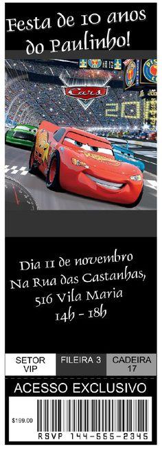 convite festa carros